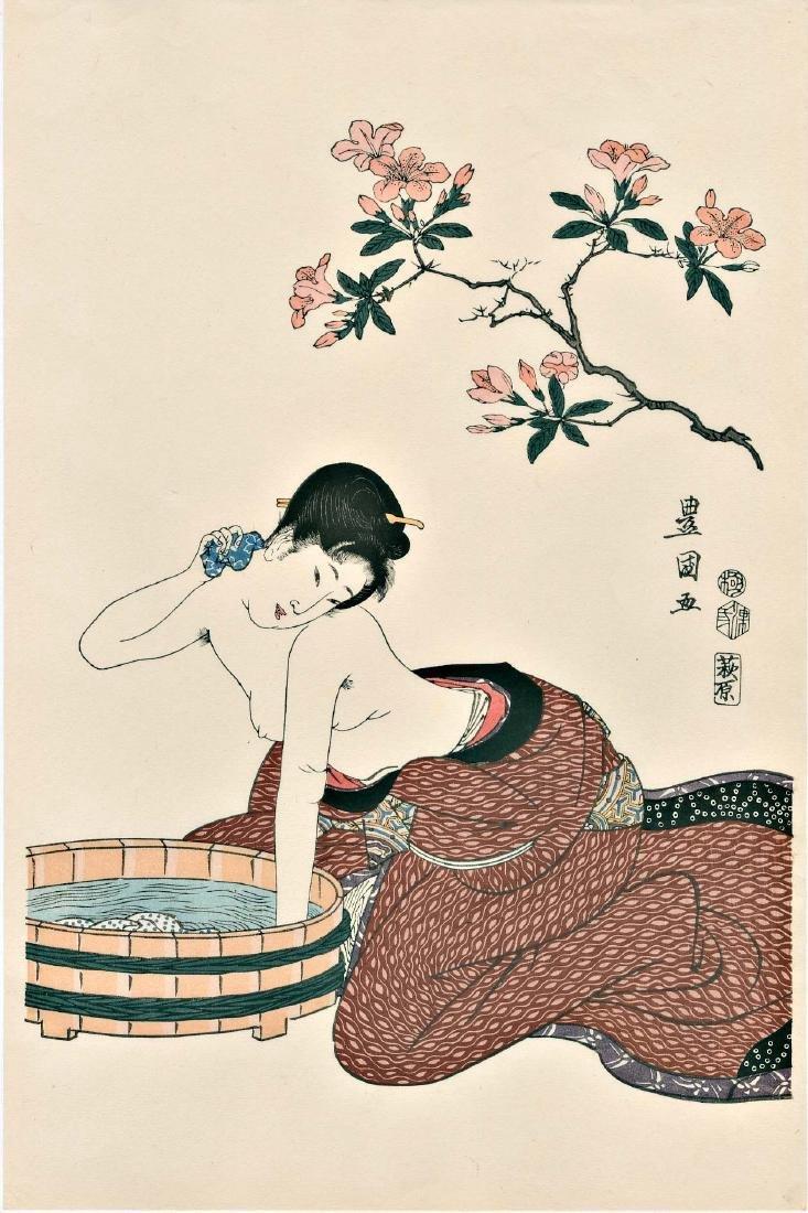 Utagawa Kunisada Women Japanese Woodblock Print - 4
