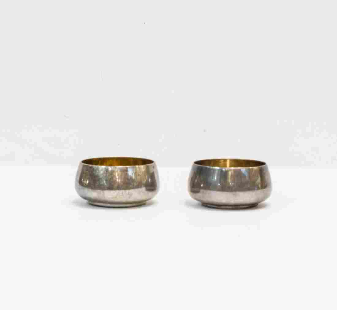 Pair of Tiffany & Co Sterling Silver Gilt Salt Cellars
