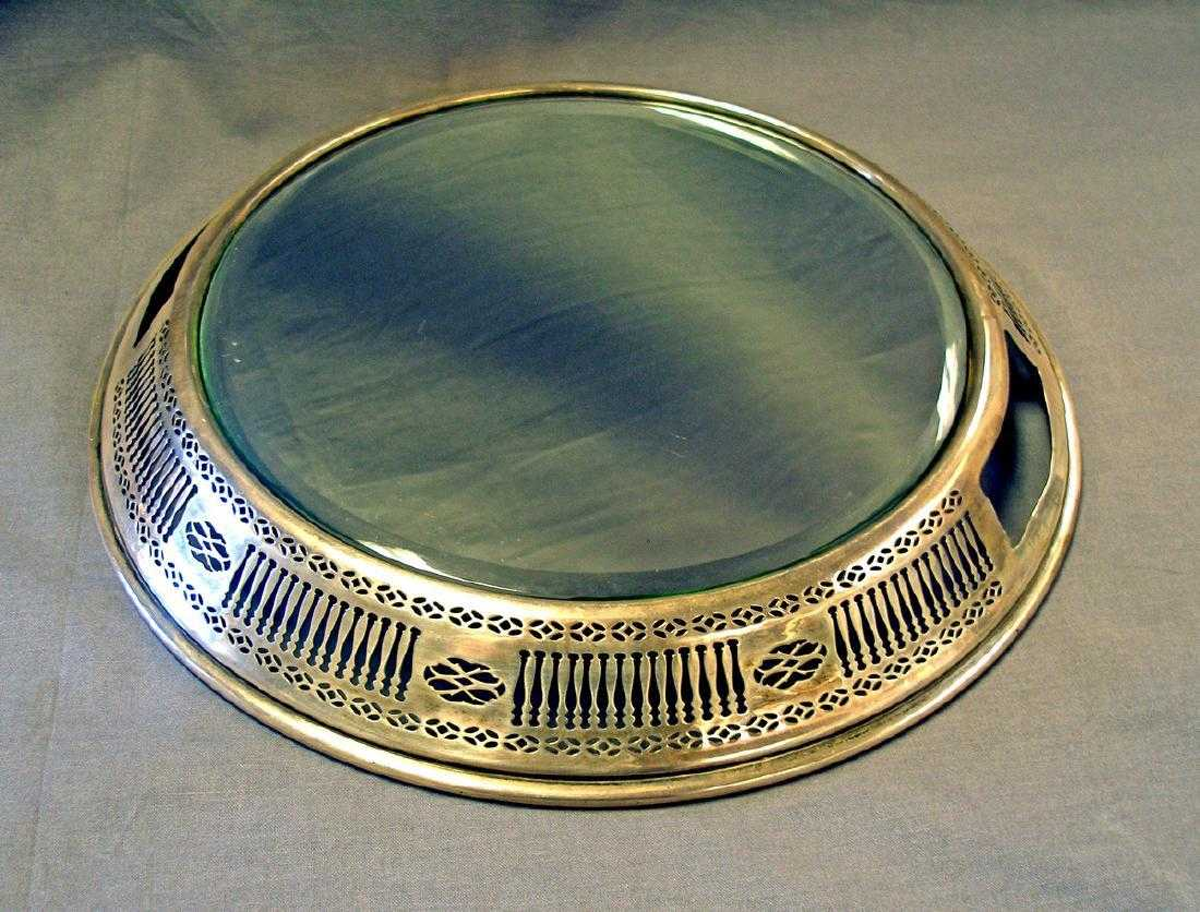 Antique Sterling Silver Mirror Plateau 1920s