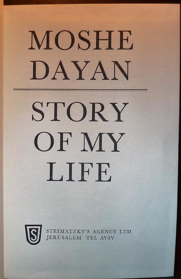 Moshe Dayan - Signed 1st Edition - Story Of My Life