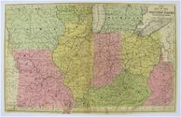 Mitchell: Antique Map of Southern States, US, 1858