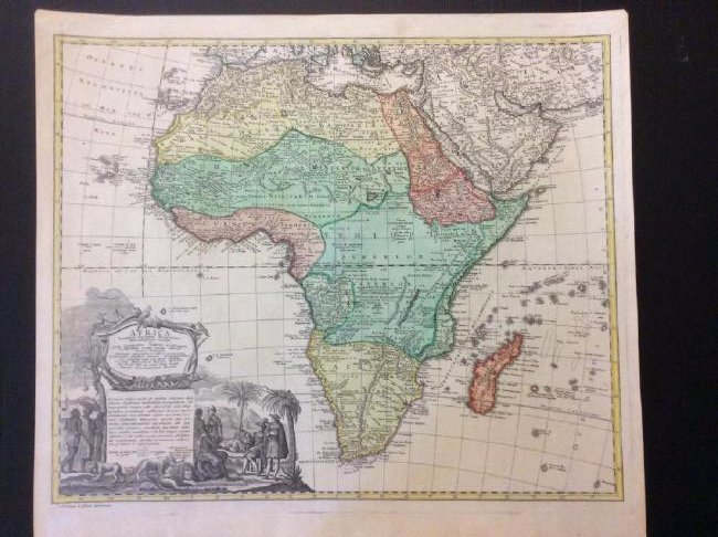 Homman Heirs: Antique Map of Africa, 1746