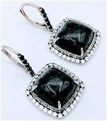 Sterling Silver Hematite Cubic Zirconia Earrings
