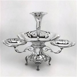 Antique Thomas Frost Sterling Silver Epergne, 1911