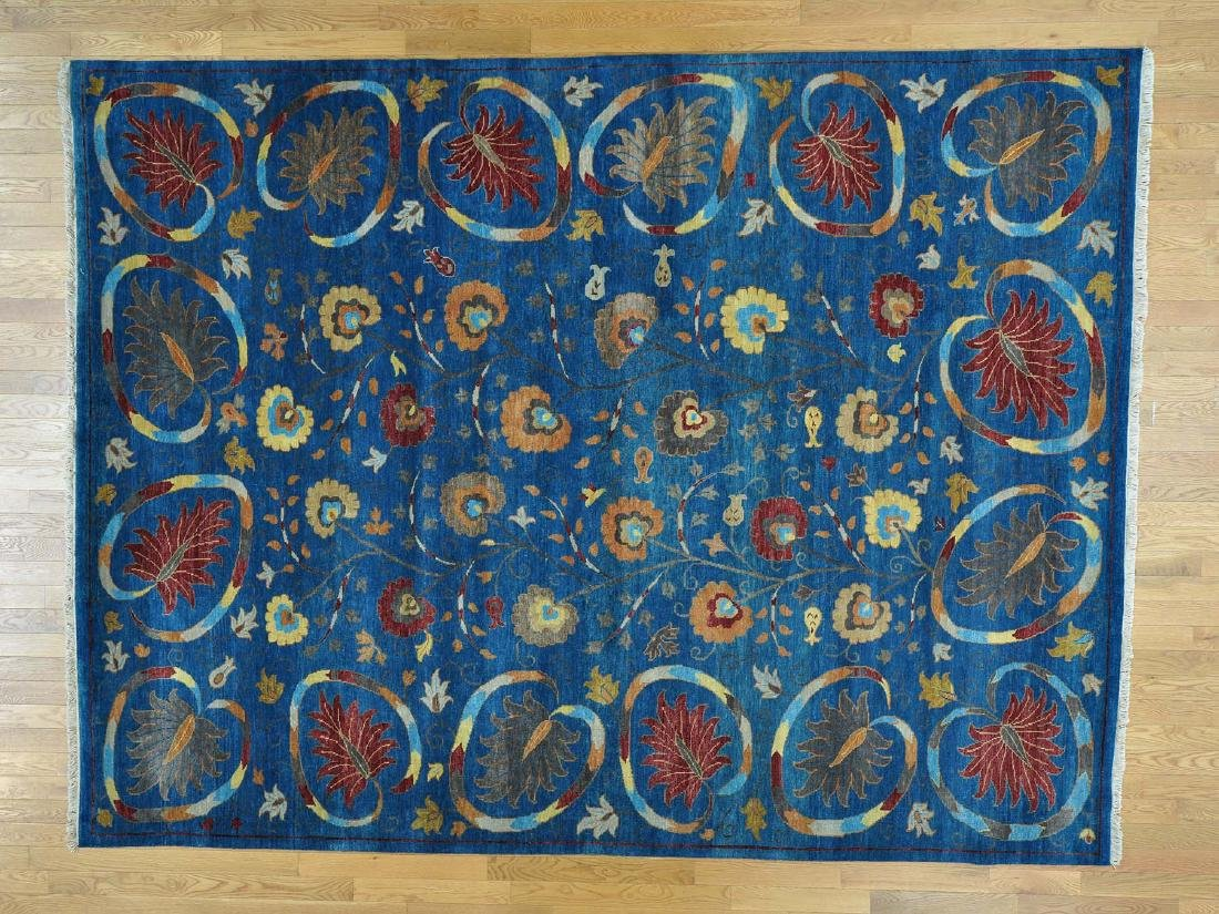 Wool Modern Hand Knotted Oriental Rug 9x11.9