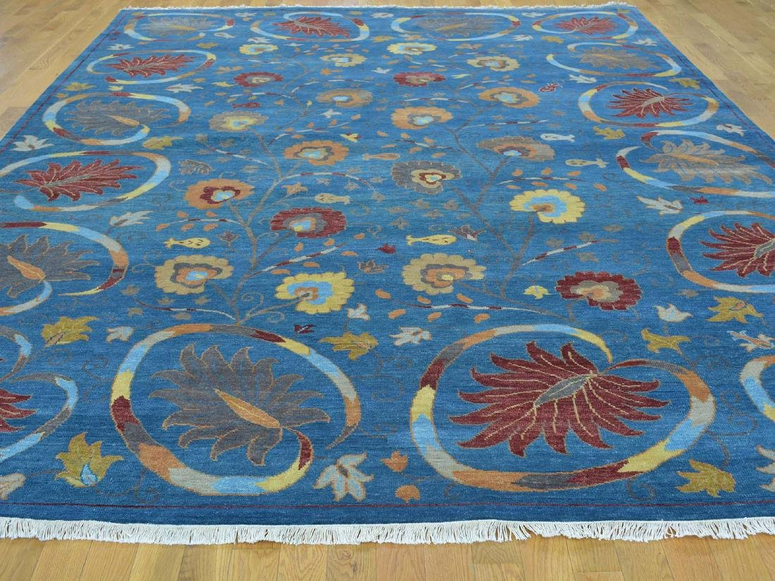 Wool Modern Hand Knotted Oriental Rug 9x11.9 - 2