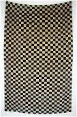 Checker Antique Tibetan Wool Rug 2.8x4.4