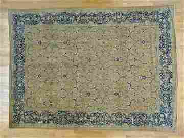 Antique Persian Tabriz Hand Knotted Rug 10.4x14