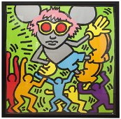 Keith Haring Andy Mouse Serigraph