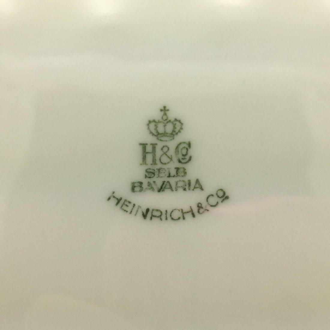 12 Heinrich Burgundy + Gold Large Service Plates - 2