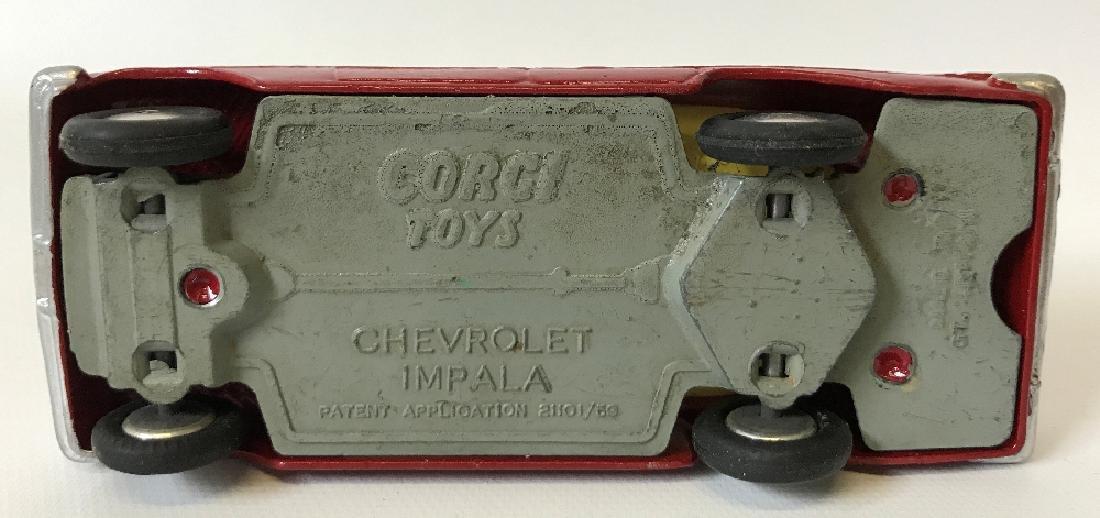Vintage CORGI CHEVROLET CHEVY IMPALA Red Toy Car - 4