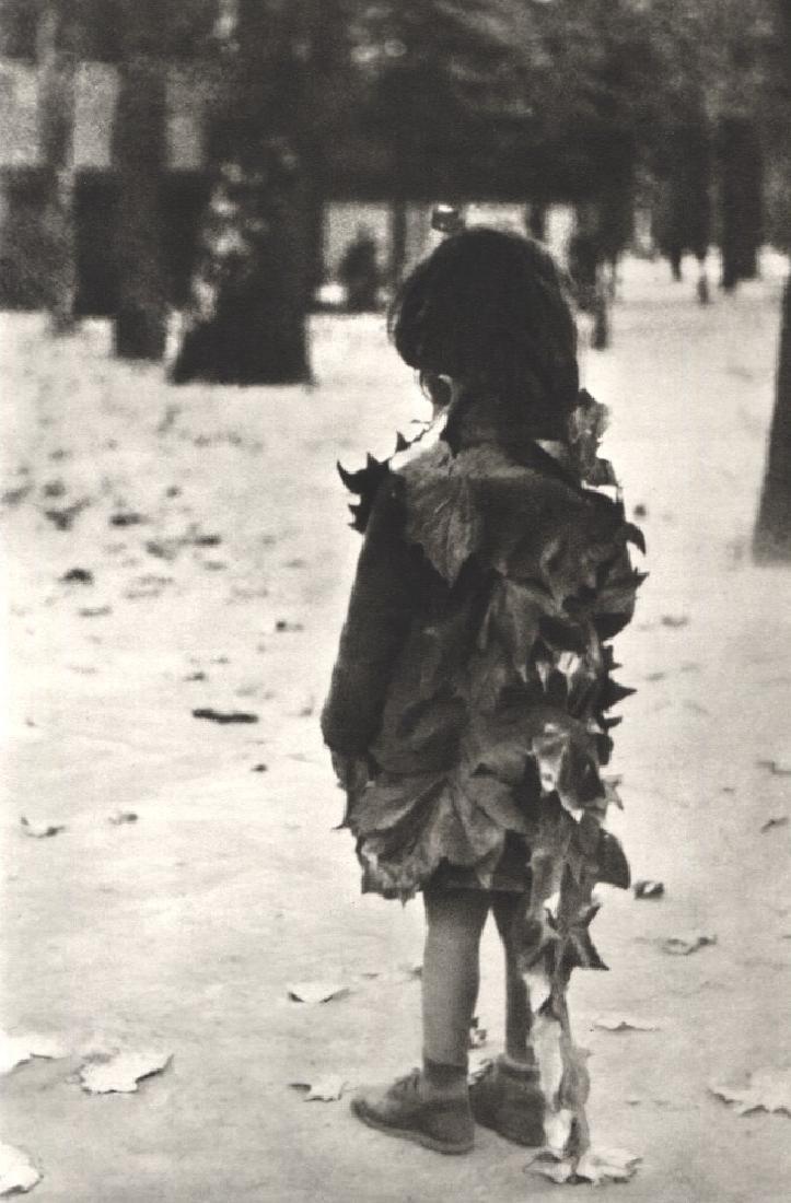 EDOUARD BOUBAT - Little Girl with Dead Leaves