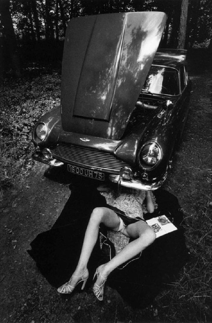 JEANLOUP SIEFF - Under the Car, Bonnet Open