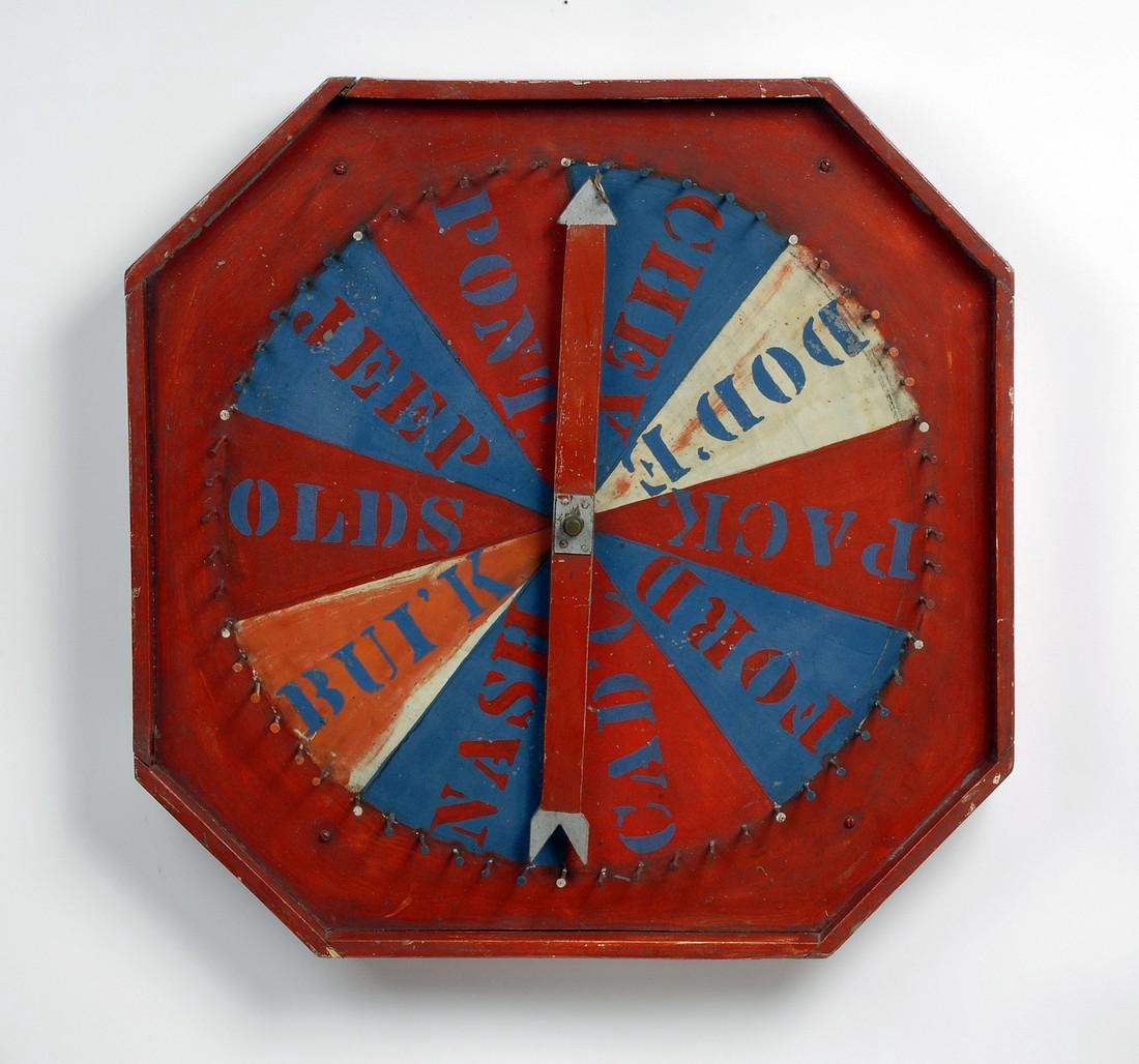 Automobile Game Board 1930s - 1940s