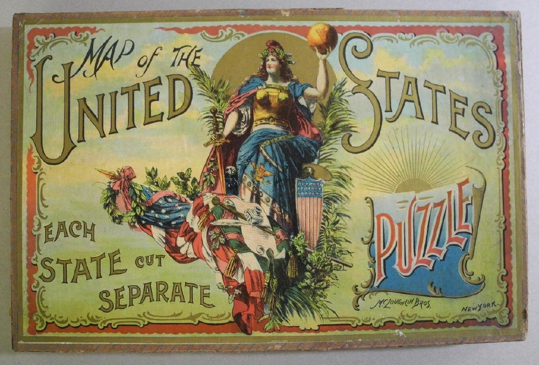 Map of the United States Puzzle. McLoughlin Bros