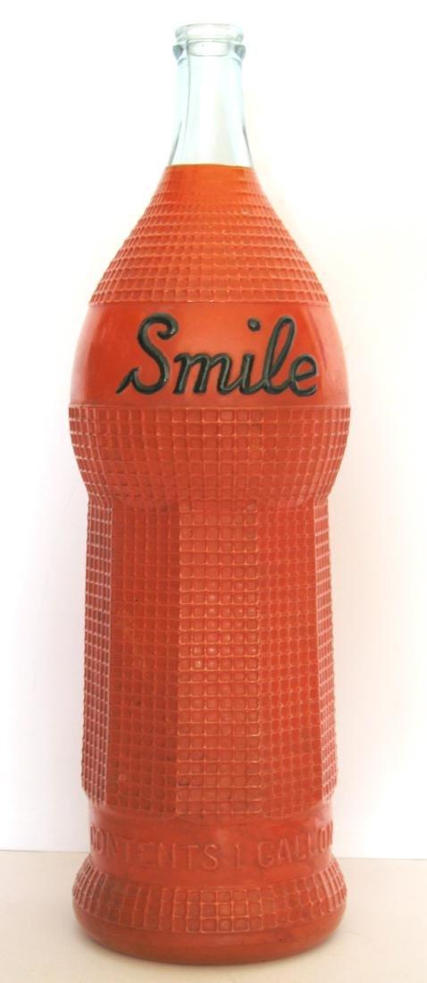 Vintage Rare Smile Advertising Bottle 1922