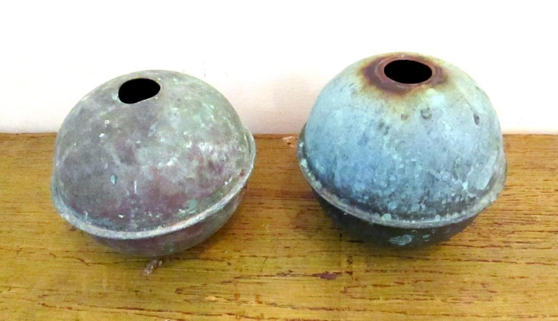 Copper Weathervane Balls 20th Century