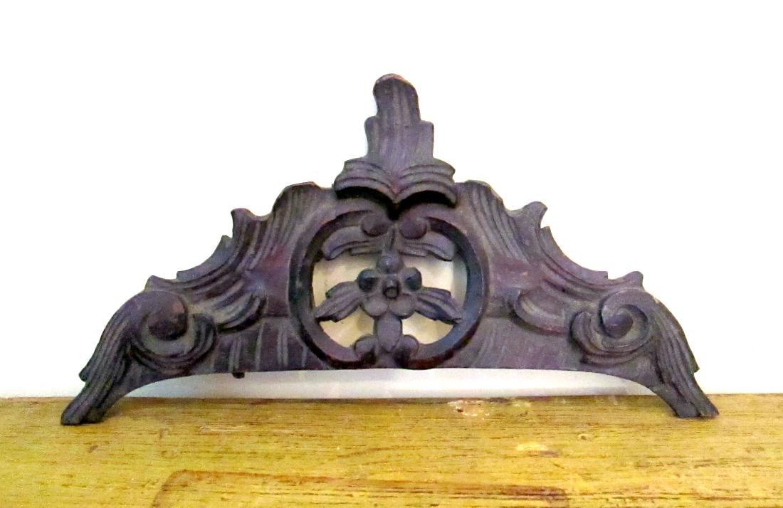 Antique Queen Anne Mirror Crest Mid 18th Century