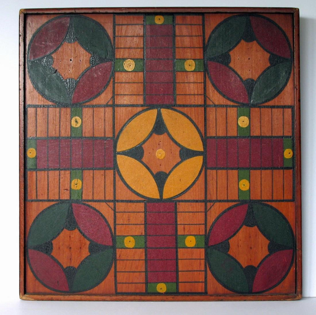 Two Sided Game Board, Parcheesi & Checkers