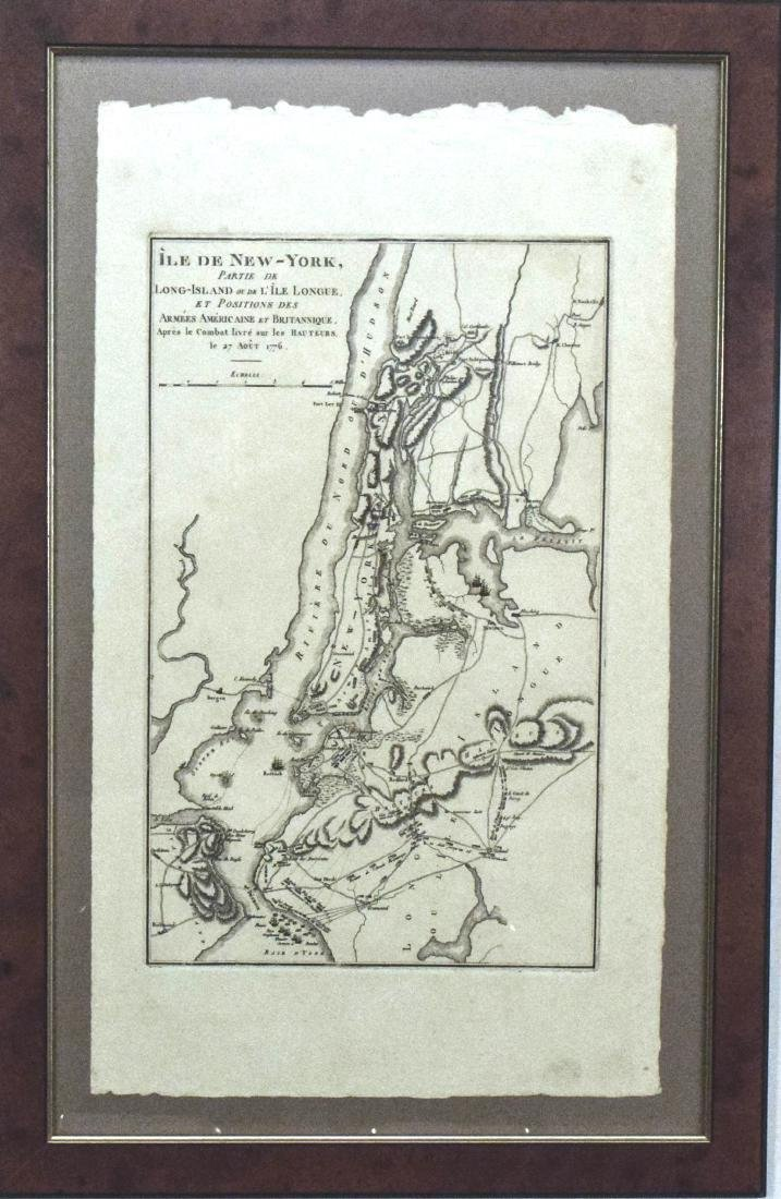 Marshall: Antique Map Showing New York City in 1776