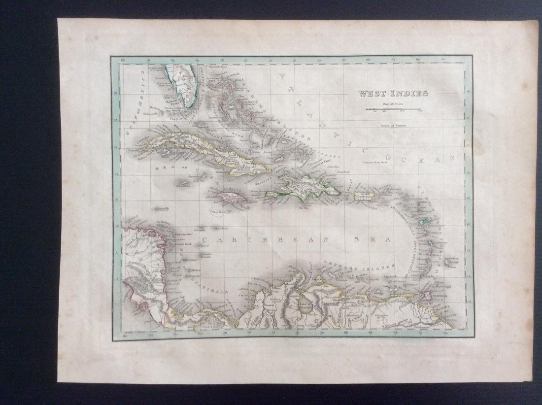 Bradford: Antique Map of the West Indies, 1835