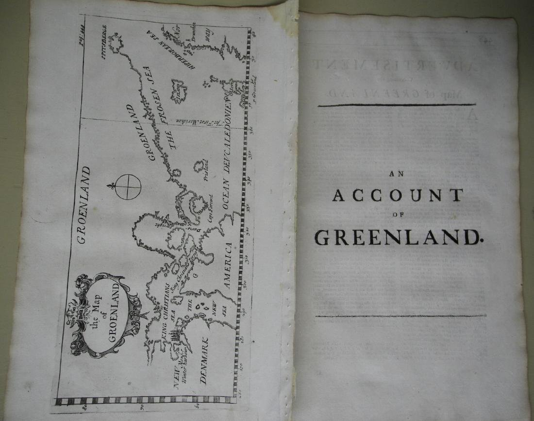 Chaplain: Antique Map of Iceland & Greenland, 1744