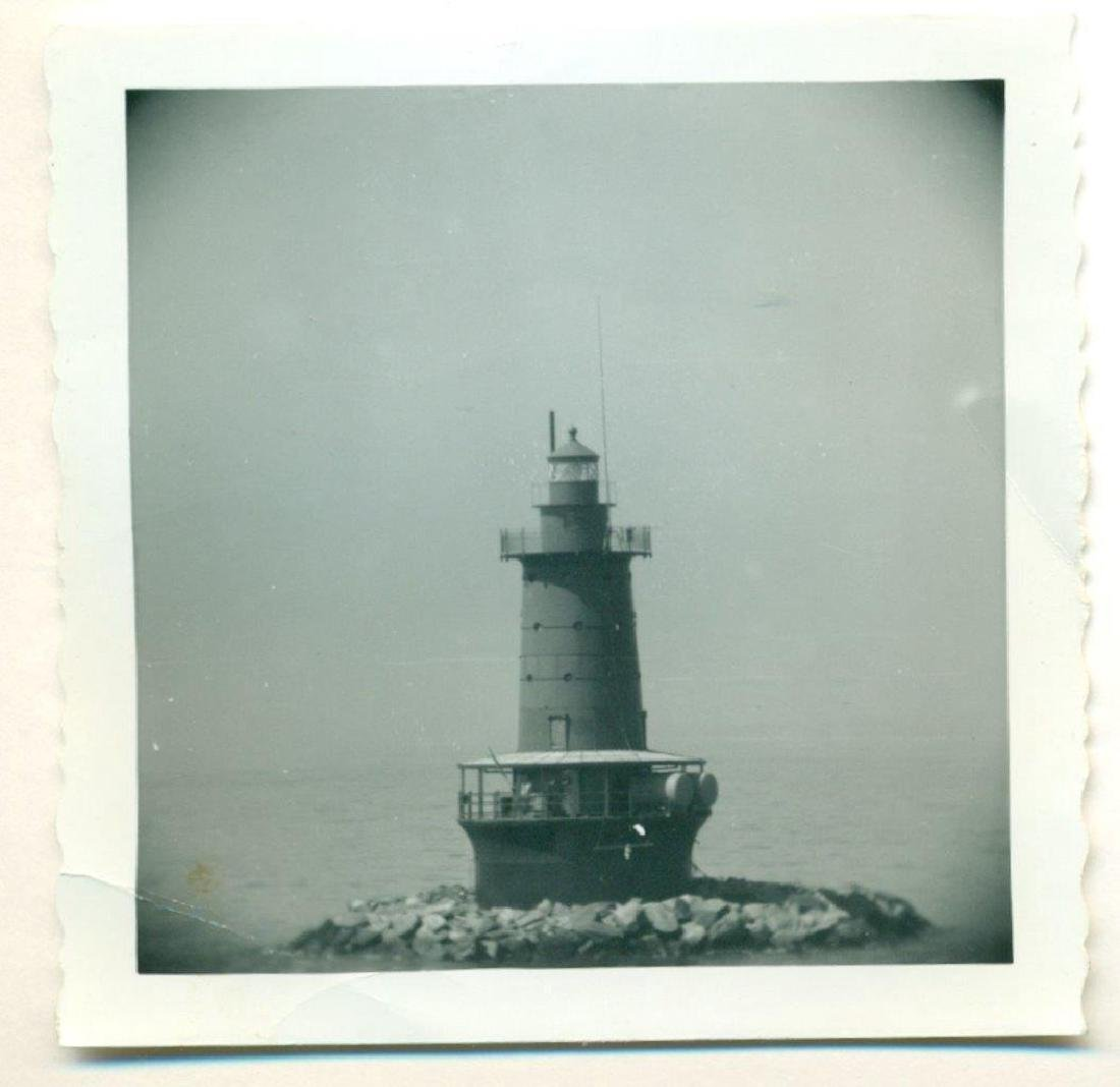 1950 Nautical Vintage Snapshot Photograph Light House