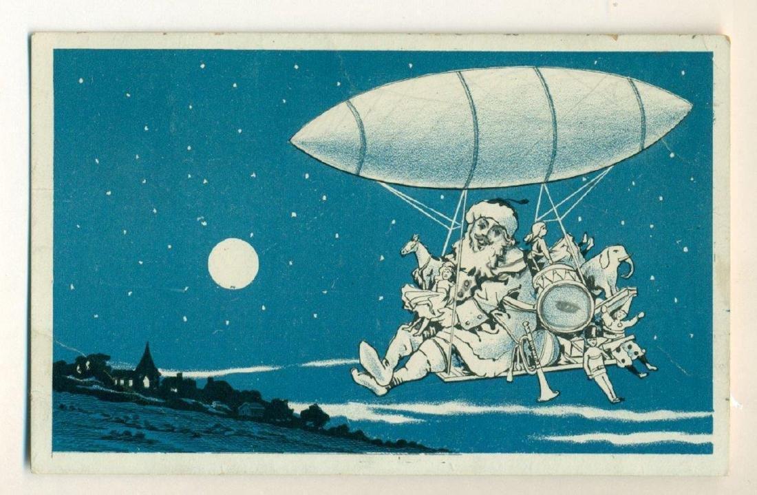 1910 Vintage Santa Claus Toys Dirigible Ship Zeppelin