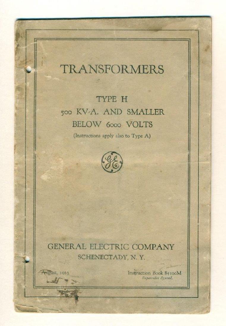 Vintage 1923 General Electric Transformer Instruction