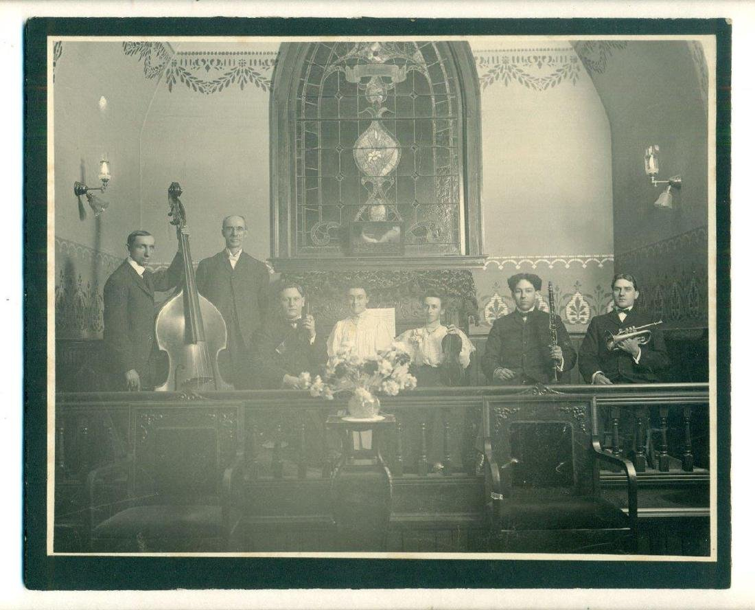 1900 Photo Church Musicians Band Orchestra