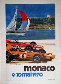 Monaco Grand Prix, 9-10 Mai 1970 Event Poster