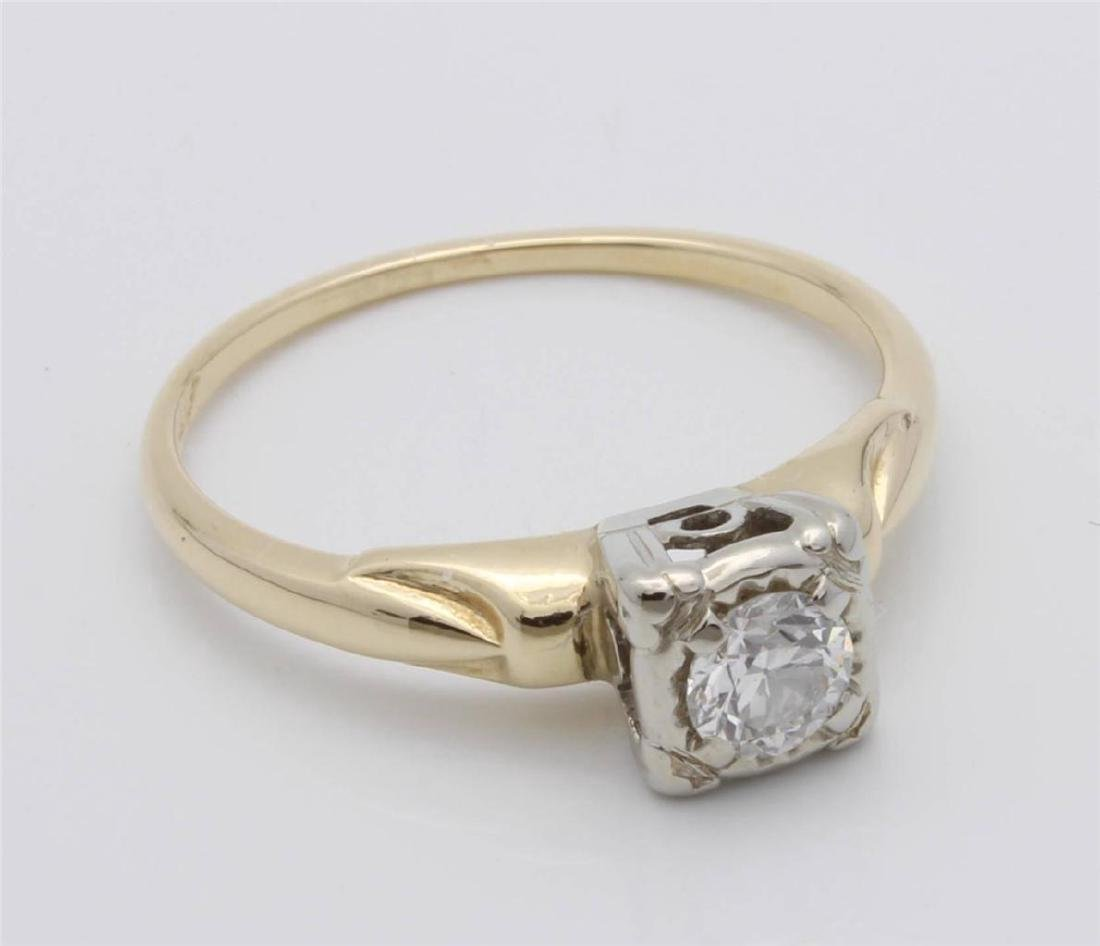 Vintage 14K Gold Diamond Engagement Ring, .30 ct