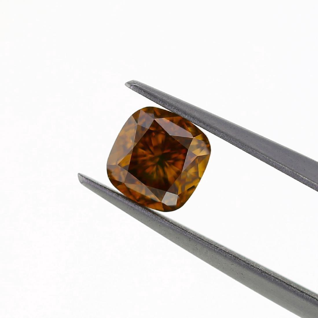 Loose Stone 1.50 ct. Natural Brown-Orange GIA Diamond