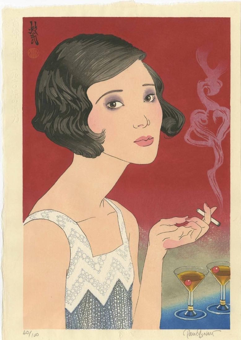 Paul Binnie 1920's Moga Japanese Woodblock Print