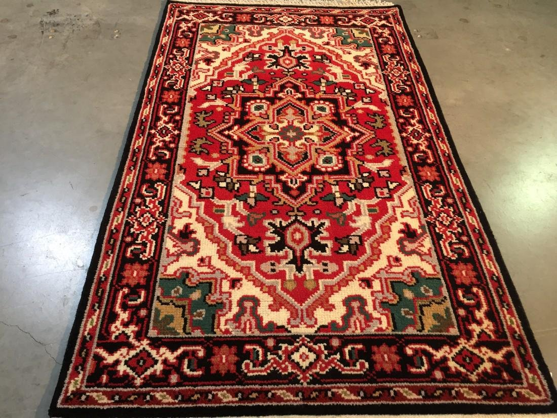 "Hand-knotted ""Serapi"" Wool Runner Rug 2.11x5"