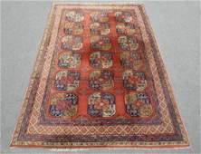 Handmade German Hooked Turkoman Design Rug 10x6.7