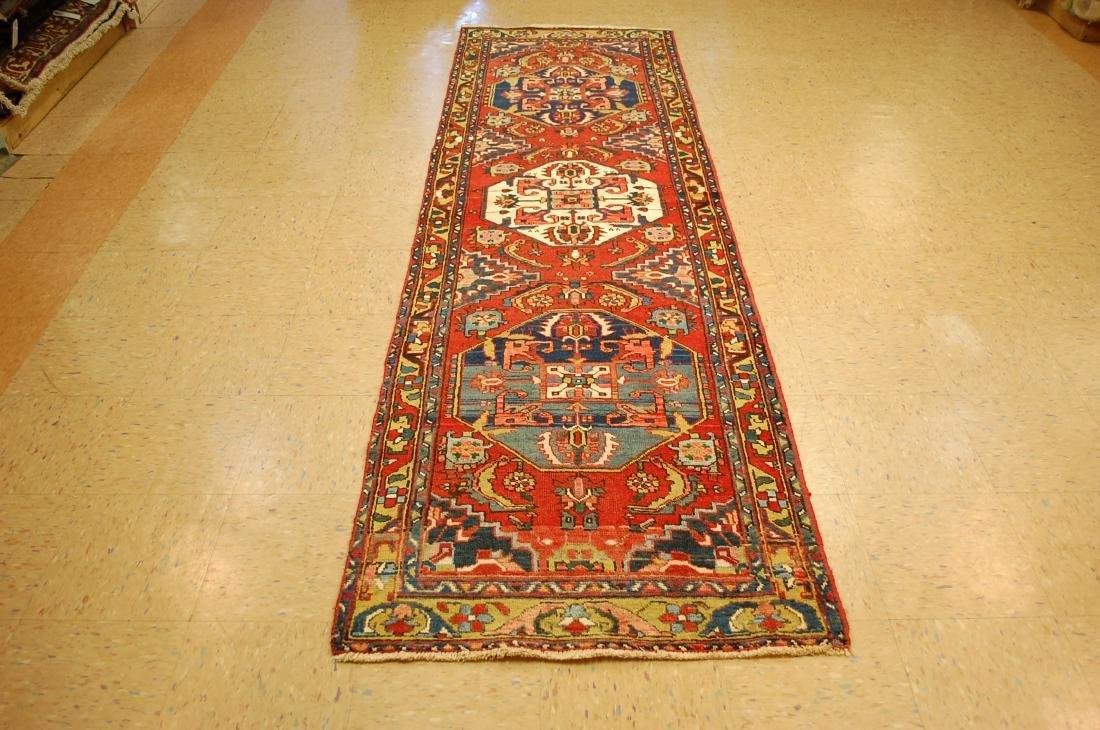 Vintage Persian Heriz Serapi Runner Rug 2.11x10