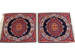 Pair Of Beautiful Vintage Sarouk Rugs 2x4 Each