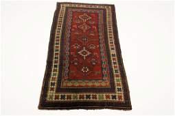 Antique Authentic Kazak Caucasian Rug 4x7