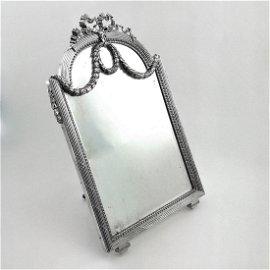 Antique French Bointaburet Solid Silver Mirror, 1880