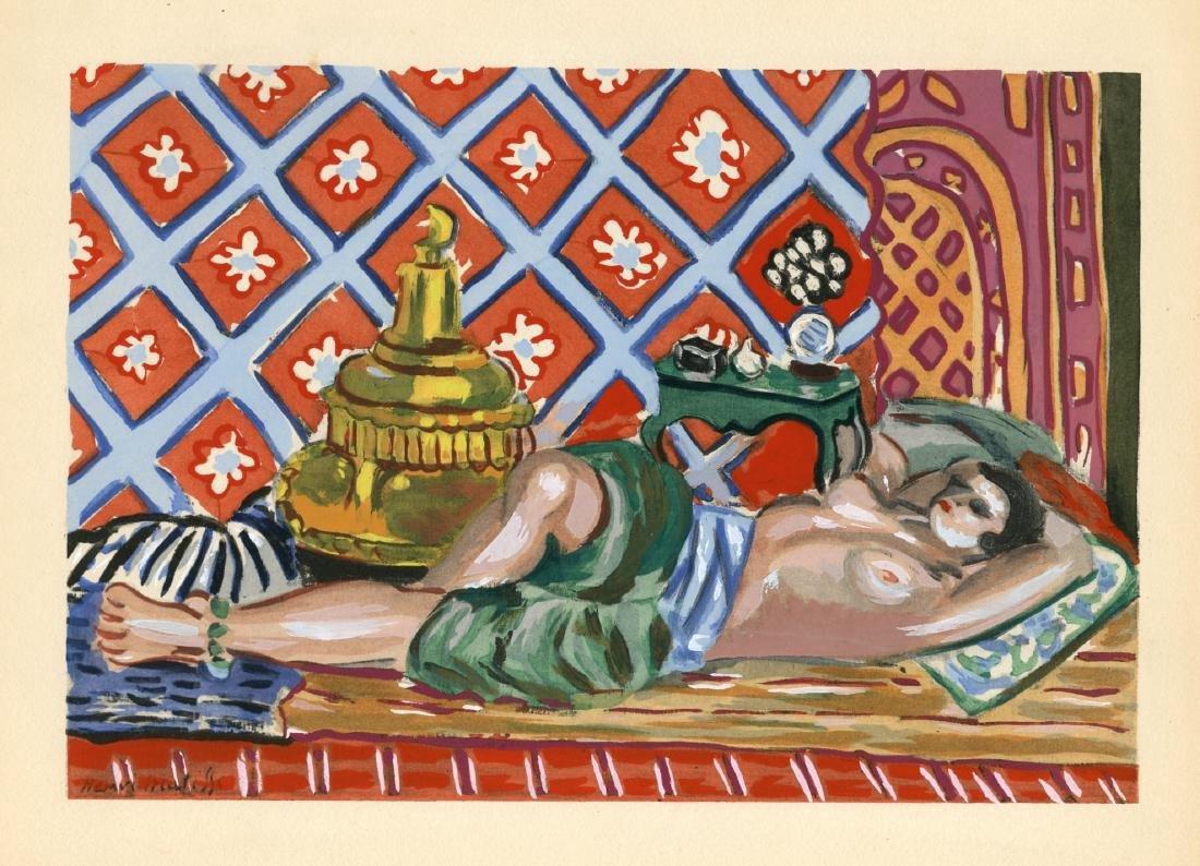 Henri Matisse Odalisque Sur Fond Rouge Pochoir