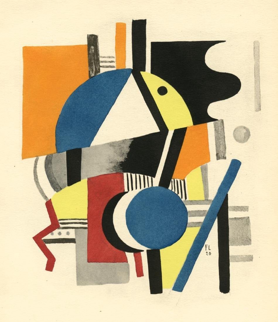 Fernand Leger Composition 1929 Pochoir
