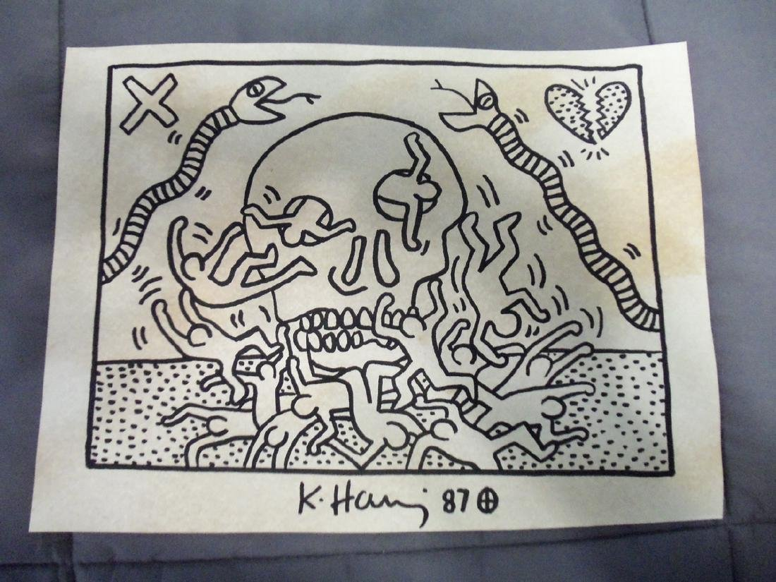 Keith Haring Skull & Snakes - Signed