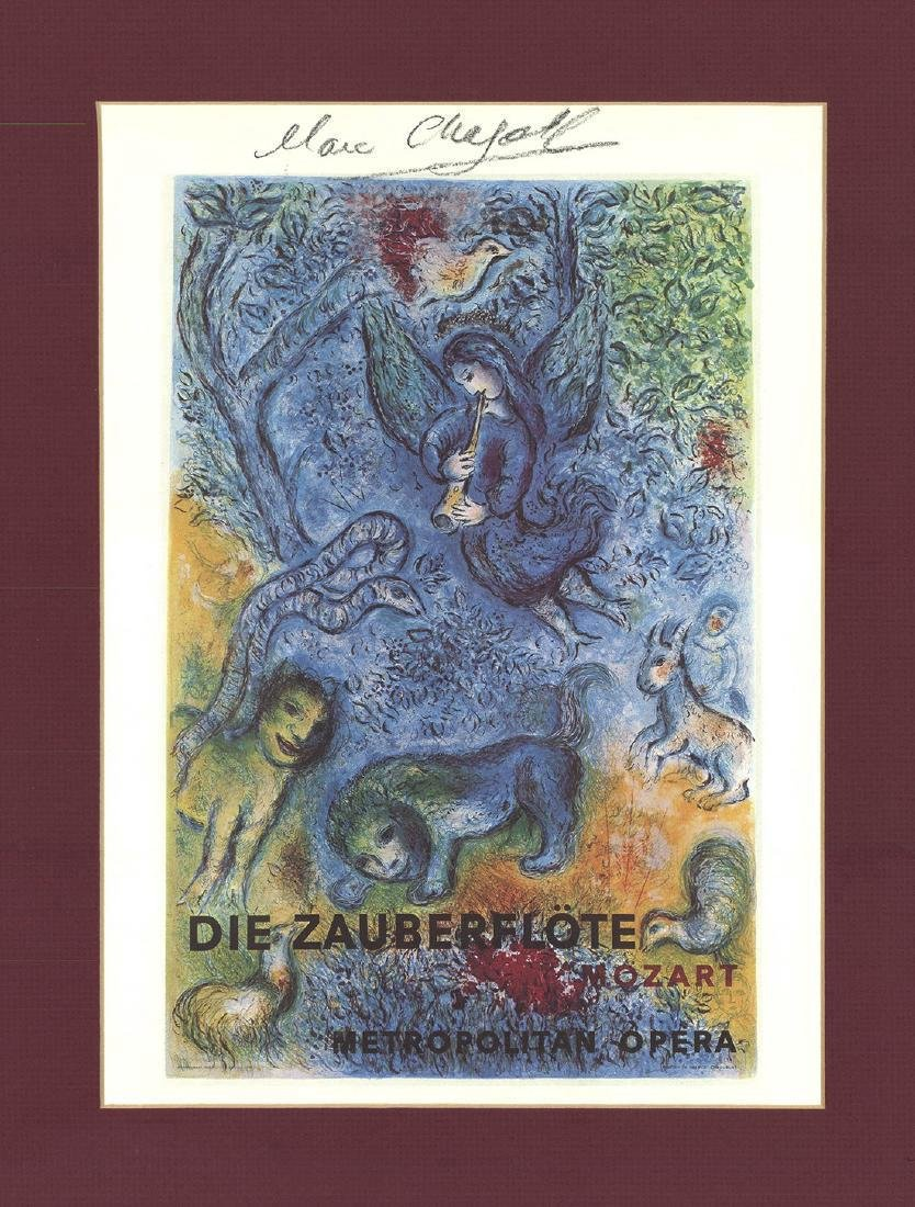 Marc Chagall Magic Flute Offset Lithograph