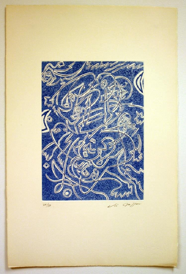 Andre Masson Les Demeures d´ Hypnos Etching