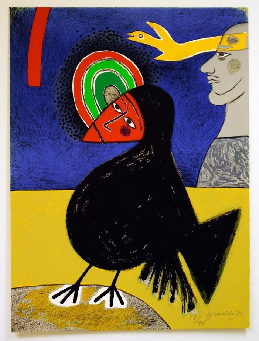 Corneille Raven 3 Lithograph