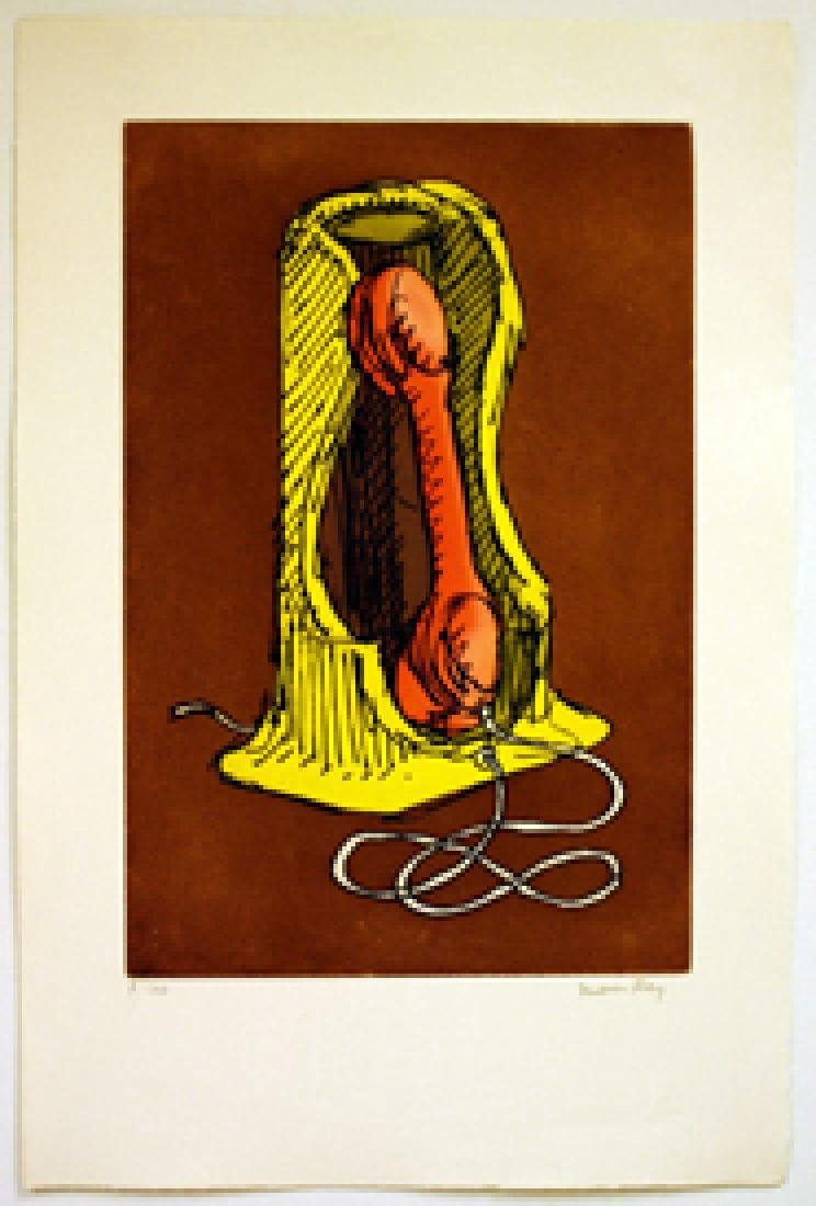 Man Ray Telephone Etching