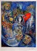 "Chagall ""Bella"" Limited Edition Signed Lithograph"