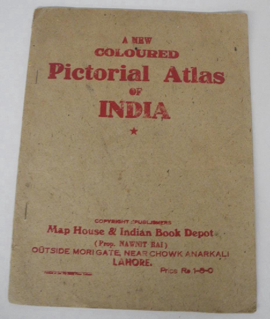 New Coloured Pictorial Atlas of India