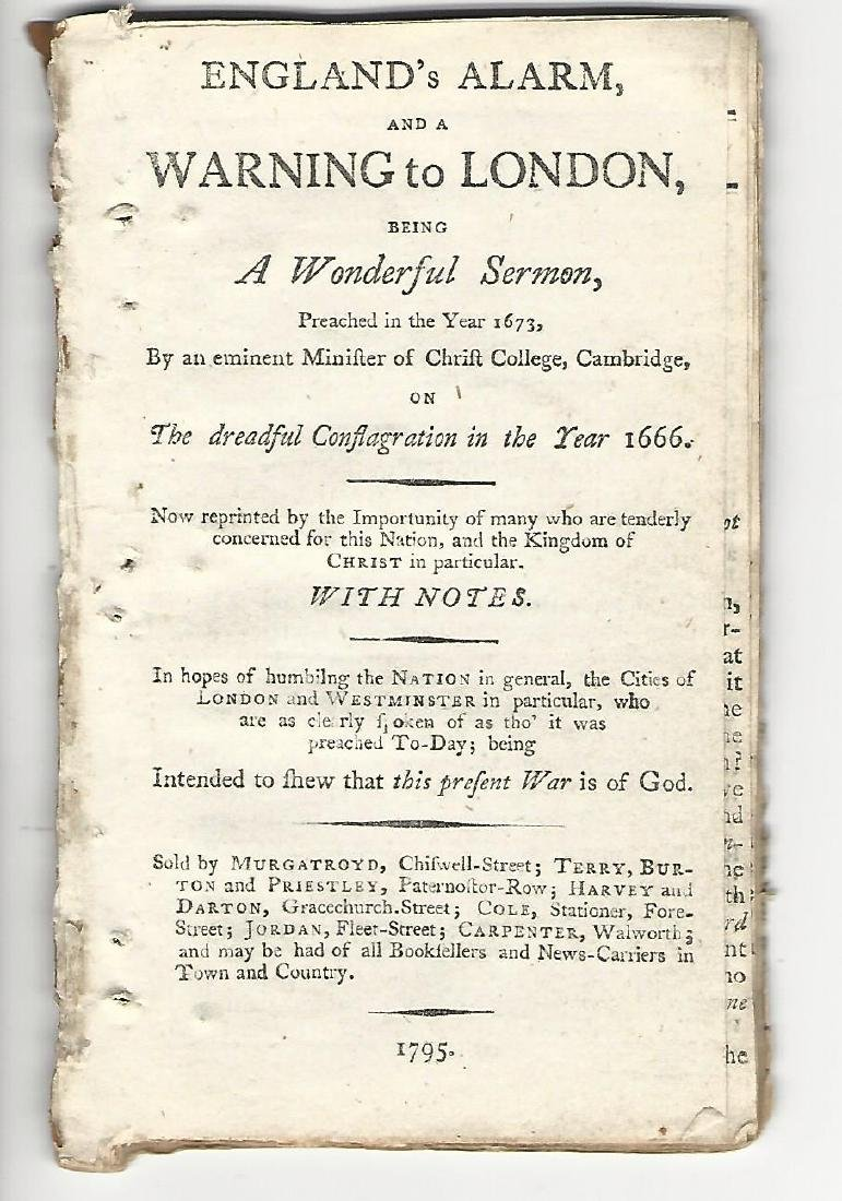 1795 England's Alarm and a Warning to London